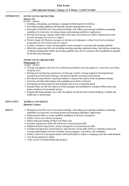 Recruiter Resume Sample Entry Level Recruiter Resume Samples Velvet Jobs 13