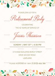 Invitation Cards Designs For Retirement Party Corporate Retirement Party Invitation Template Retirement