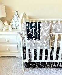 deer crib bedding woodland nursery set navy blue hunting canada