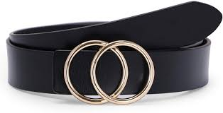 Amazon Designer Belts Fashion Designer Belts For Women Leather Belts For Jeans Dress Pants With Gold Double O Ring Buckle