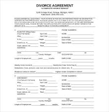 Divorce Paper Template