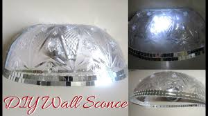 Diy Dollar Store Wall Glam Sconces Diy Dollartree Bling Wall Light Decor Diy Home Decor Ideas