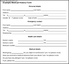 Medical Form In Pdf Sample Medical History Form - sarahepps.com -
