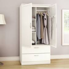 Acapella Wardrobe Armoire By South Shore White Armoire With Drawers H25