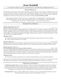 Machine Operator Resume Unforgettable Machine Operator Resume