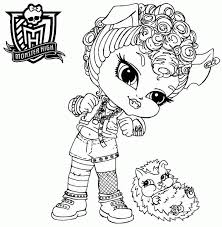 Small Picture Monster High Coloring Pages Baby Coloring Home