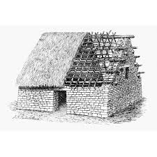stretched canvas art machu picchu house nartist s reconstruction of a typical dwelling on typical wall art size with stretched canvas art machu picchu house nartist s