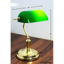 banker lamp lawyer banker lamp brass gold green lawyer bankers lamp shade green