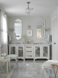 Double Mirrored Bathroom Vanity Top Eye Catching White Mirror Metal