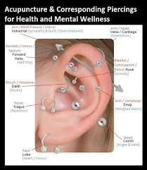 Ear Piercing Chart Acupuncture Corresponding Piercings For Health And Mental