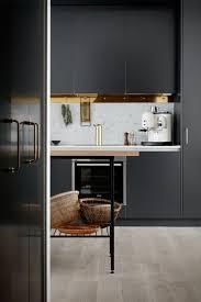 Black Kitchen Laminate Flooring Cabinets Storages Black Solid Stylish Galley Kitchen Cabinet