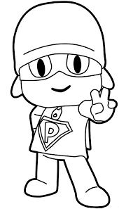 Drawing Super Pocoyo Coloring Page
