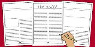 Where Can I Find A Newspaper Template Viking Newspaper Writing Template Vikings Newspaper Template Viking