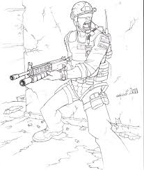 Small Picture Call Of Duty Drawings And Call Of Duty Coloring Pages