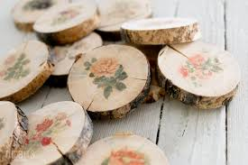 botanical wood slices tutorial easy diy image transfer method