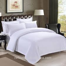 china gold supplier for cotton satin hotel bed cover blend bed sheet 60sx40s bed sheet hotel white bedding sets refine textile