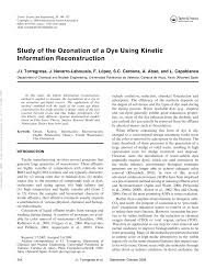 Determination Of Fast Ozone Reactions In Aqueous Solution By