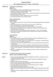 Sample Resume It Technician IT Technician Resume Samples Velvet Jobs 1