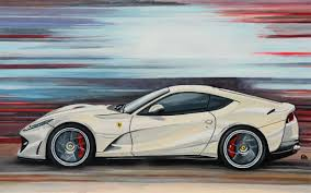 2018 ferrari 812 superfast black. interesting superfast a ferrari 812 superfast in motion in a great cream color painted small  format 4523 cm on paper more information at geertjandebontcom  pinterest  with 2018 ferrari superfast black