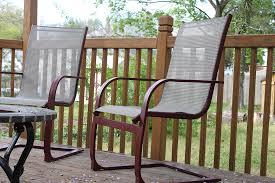 revive old word outdoor deck furniture with spray paint