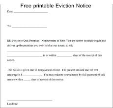 Free Eviction Notice Template Sample Eviction Notice Form Free Printable Eviction Notice Template In 2019 Eviction