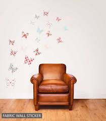 set of 20 shabby chic fabric erfly reusable wall stickers
