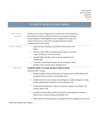 Telemetry Nurse Resume Sample Gallery Creawizard Com