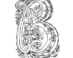 Small Picture instant digital download coloring page letter D with