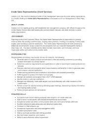 Inside Sales Resume Examples Inside Sales Representative Resume Shalomhouseus 11