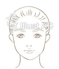 女性の顔イラスト無料イラストならイラストac