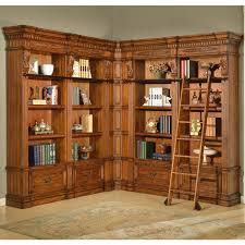Parker House GGRA#9030-4-9056 Grand Manor Granada Museum Library Corner  Bookcase 5 Piece in Antique Vintage Walnut