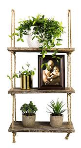 Image Wall Mount Amazoncom Timeyard Decorative Wall Hanging Shelf Tier Distressed Wood Jute Rope Floating Shelves Rustic Home Wall Decor Home Kitchen Amazoncom Amazoncom Timeyard Decorative Wall Hanging Shelf Tier
