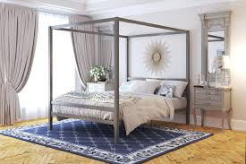 Fabric Bed Canopy Wicker Canopy Bed Gray Canopy Bed Queen Wrought ...