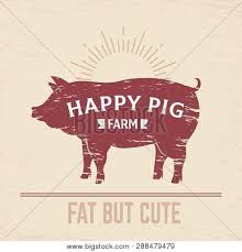 Butcher Pig Poster Vector Photo Free Trial Bigstock