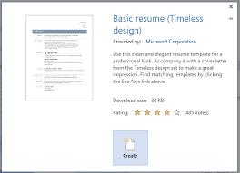 Create New Resume Resume Template Sample