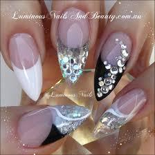 Luminous Nails: Black, White & Silver Nails... | Nails | Pinterest ...