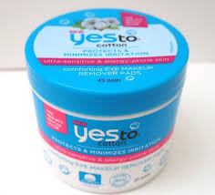 yes to cotton forting eye makeup remover pads review