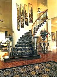 stairway wall decorating ideas staircase walls decorations artwork on curved basement stair