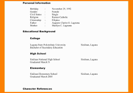 8 Character References Format Fillin Resume