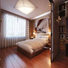 recessed lighting bedroom. Inspiring Bedroom Design Ideas With Warm Recessed Lighting And Cool Art Wall Painting Above Wooden Single