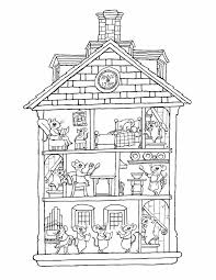 Small Picture Free House Coloring Page Printable Snowflake Coloring Pages For