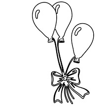 balloon coloring pages air colouring hot basket page birthday cake and balloons sheets free