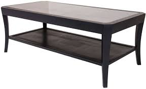 hyde black glass coffee table