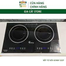 Bếp Từ Đôi 𝑪𝑨𝑴 𝑲𝑬̂́𝑻 𝑪𝑯𝑨̂́𝑻 𝑳𝑼̛𝑶̛̣𝑵𝑮 Bếp Từ Genny GN-222T  SALE GIÁ GỐC Mặt Kính Siêu Bền tại Hà Nội
