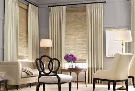 Living Room:Modern Window Treatments for Your Living Room Excellent Cream  Plain Fabric Modern Window