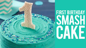 How To Make A First Birthday Smash Cake Youtube