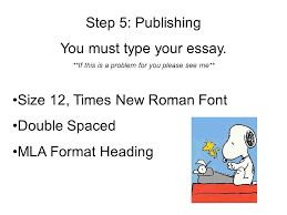 do now take out all of your materials for the monkey s paw  step 5 publishing you must type your essay