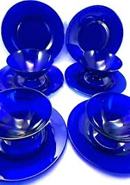 glass dinnerware set cobalt blue plates cobalt blue plates blue glass dinnerware cobalt blue dinner plates vintage cobalt blue glass dinner plates set of 6