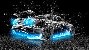 nissan skyline r34 water abstract car
