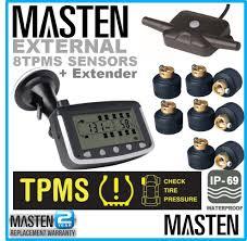 8 tpms tyre pressure monitoring system caravan truck rv sensor lcd au 342 00